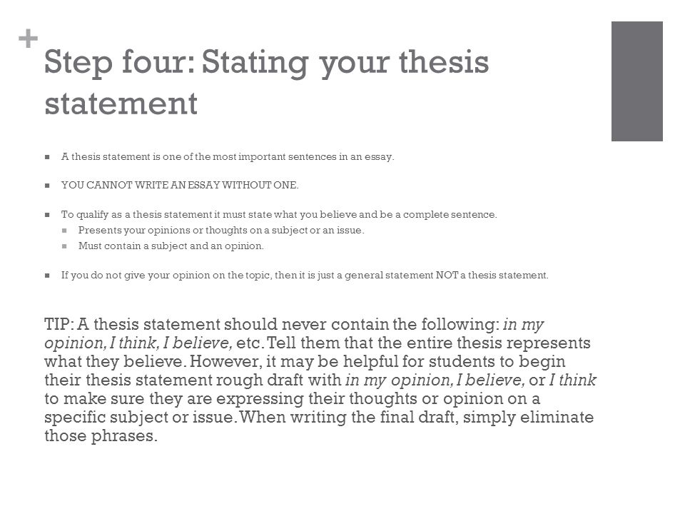 a thesis statement gives an essay its