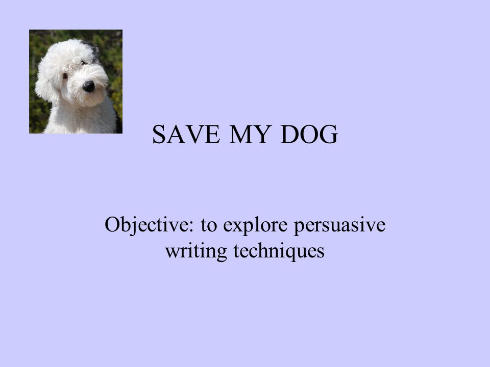 Objective to explore persuasive writing techniques ppt download