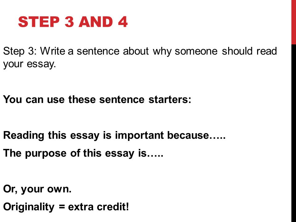 Writing First Sentence Of Essay
