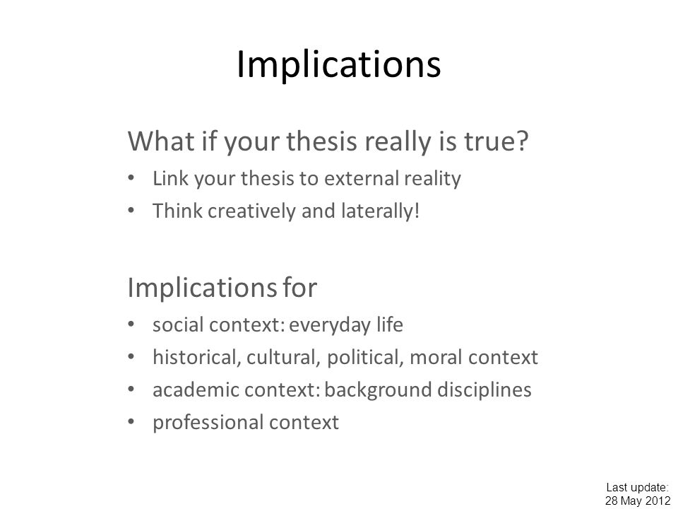 conclusion and implication essay Conclusion to be fair and honest we need to mention that social media has its positive outcomes and has it drawbacks as well as it have been relived in this article.
