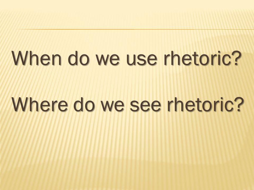 What does the term 'Rhetorical tour de force' mean?