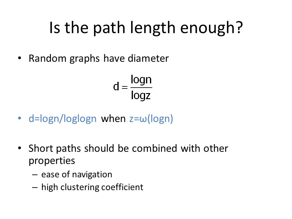 Is the path length enough.