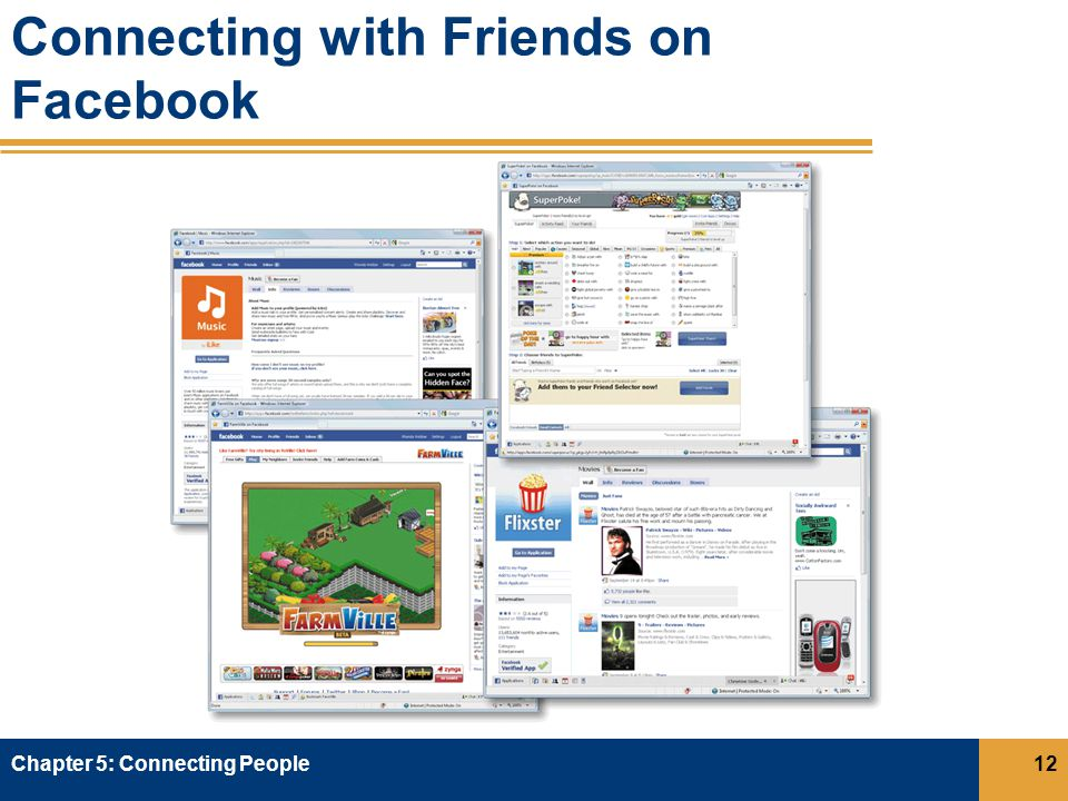 Connecting with Friends on Facebook Chapter 5: Connecting People12