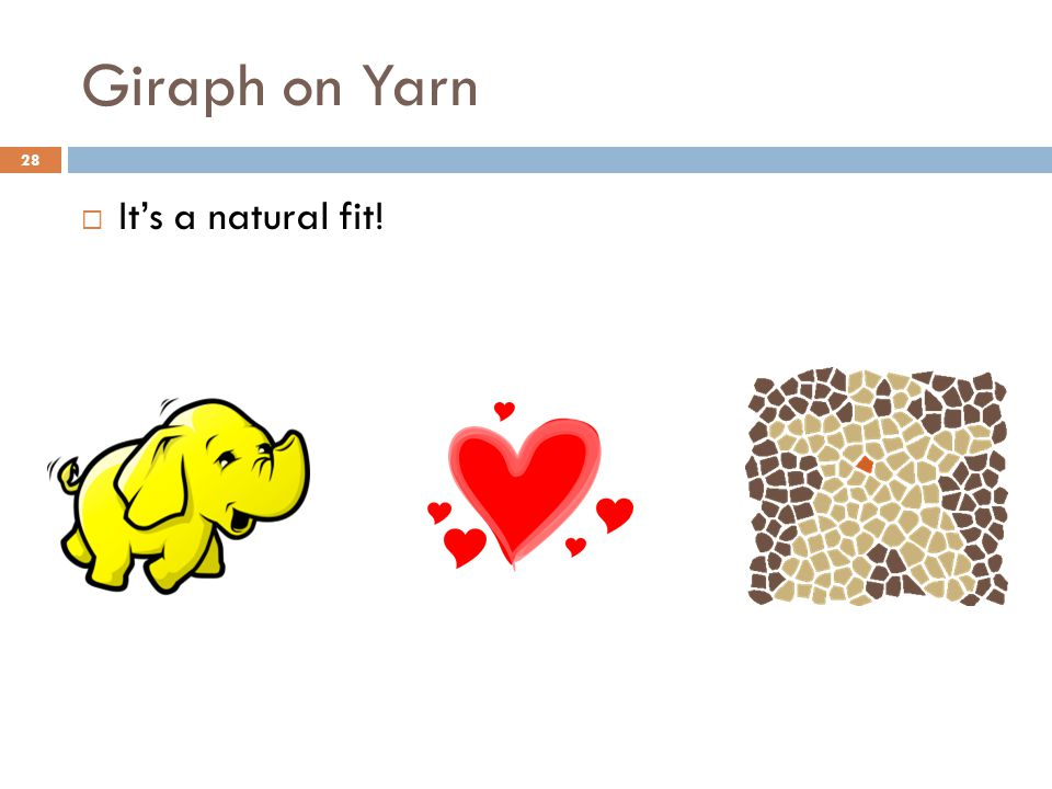 Giraph on Yarn 28  It's a natural fit!