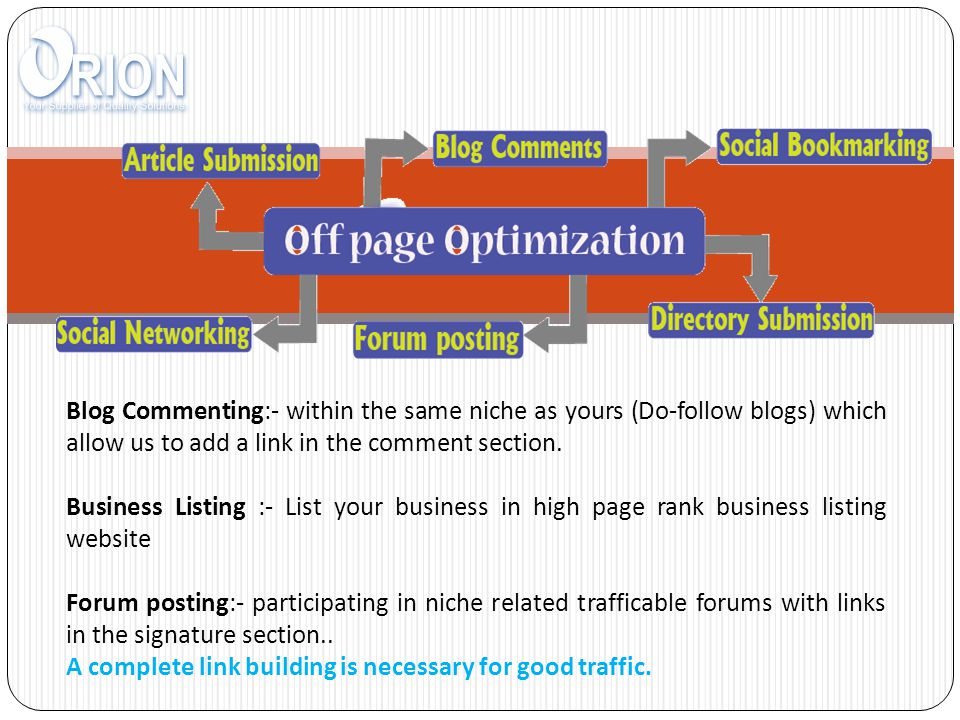 Blog Commenting:- within the same niche as yours (Do-follow blogs) which allow us to add a link in the comment section.