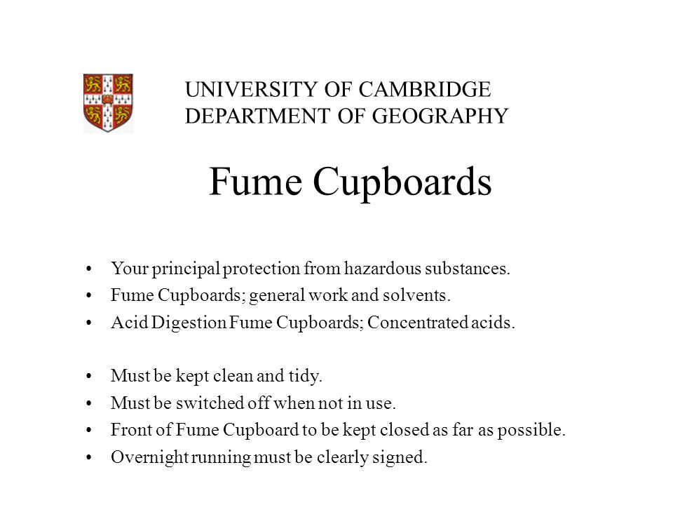 Fume Cupboards Your principal protection from hazardous substances.