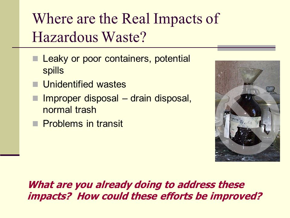Where are the Real Impacts of Hazardous Waste.