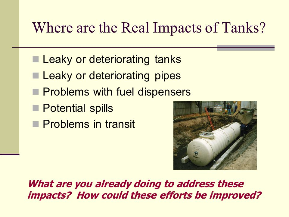 Where are the Real Impacts of Tanks.