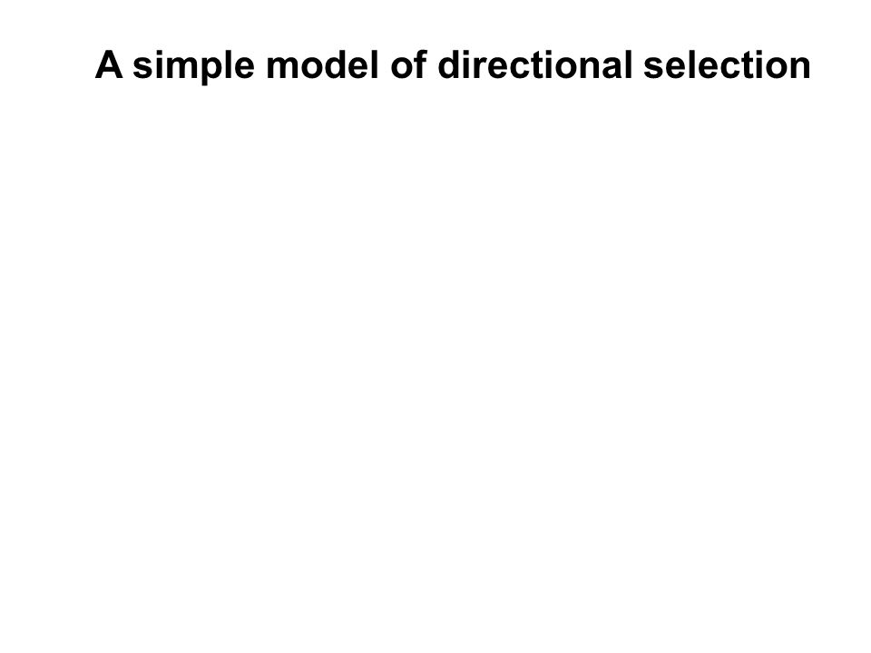 A simple model of directional selection