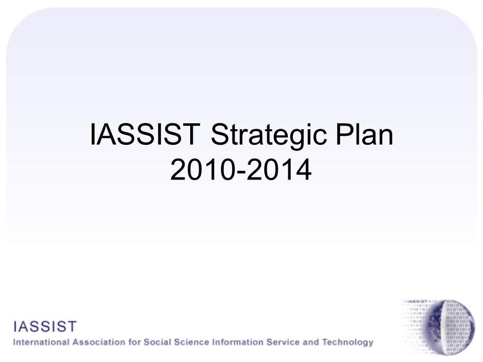IASSIST Strategic Plan