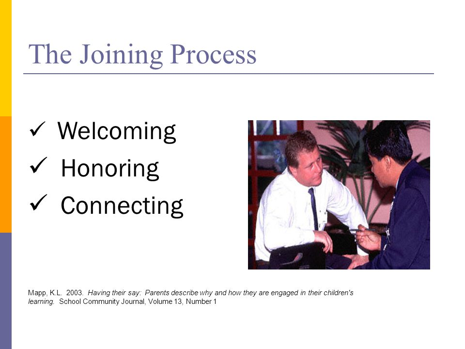 The Joining Process Welcoming Honoring Connecting Mapp, K.L.