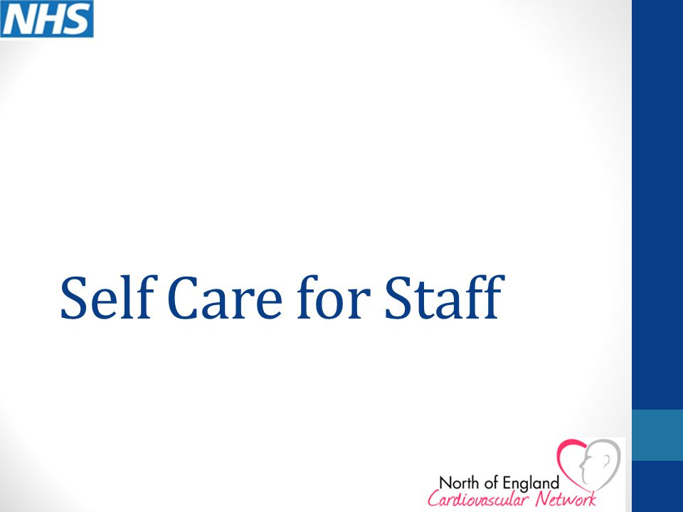 Self Care for Staff