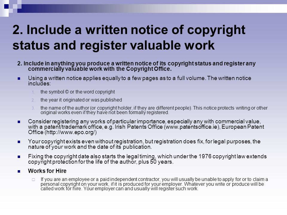 Notice Of Copyright Importance Copyright Slide Show Goproletter