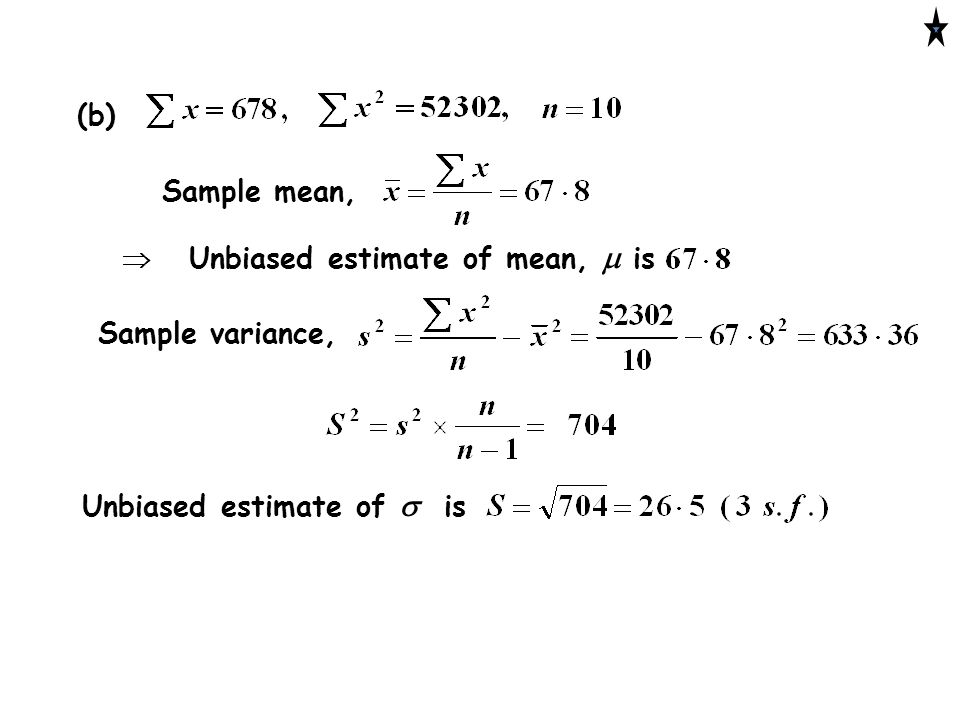 "Estimating The Standard Deviation © Christine Crisp ""Teach A Level"