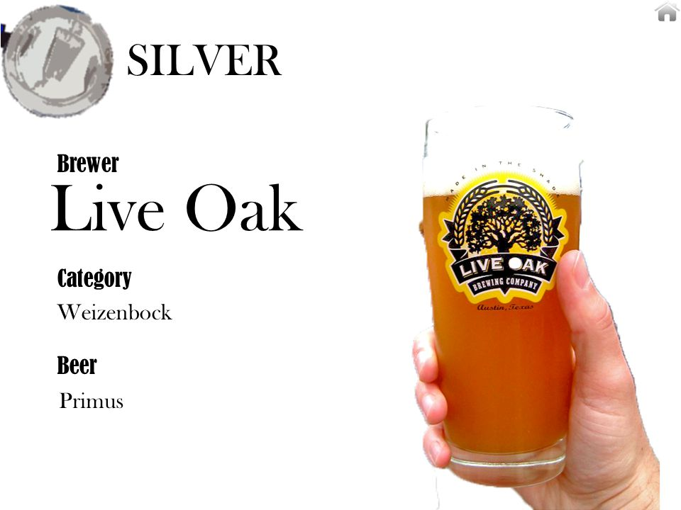 Live Oak Weizenbock Brewer Category Beer Primus SILVER
