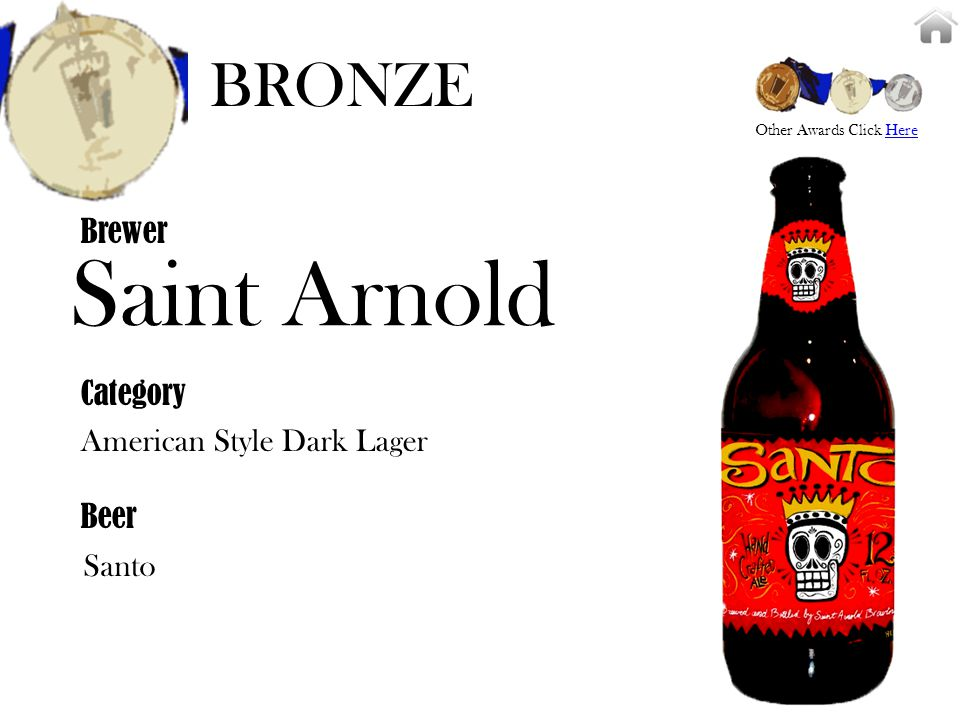 Saint Arnold American Style Dark Lager Brewer Category Beer Santo BRONZE Other Awards Click HereHere