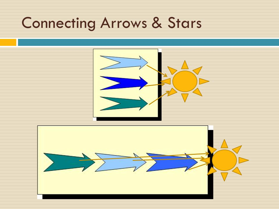 Connecting Arrows & Stars
