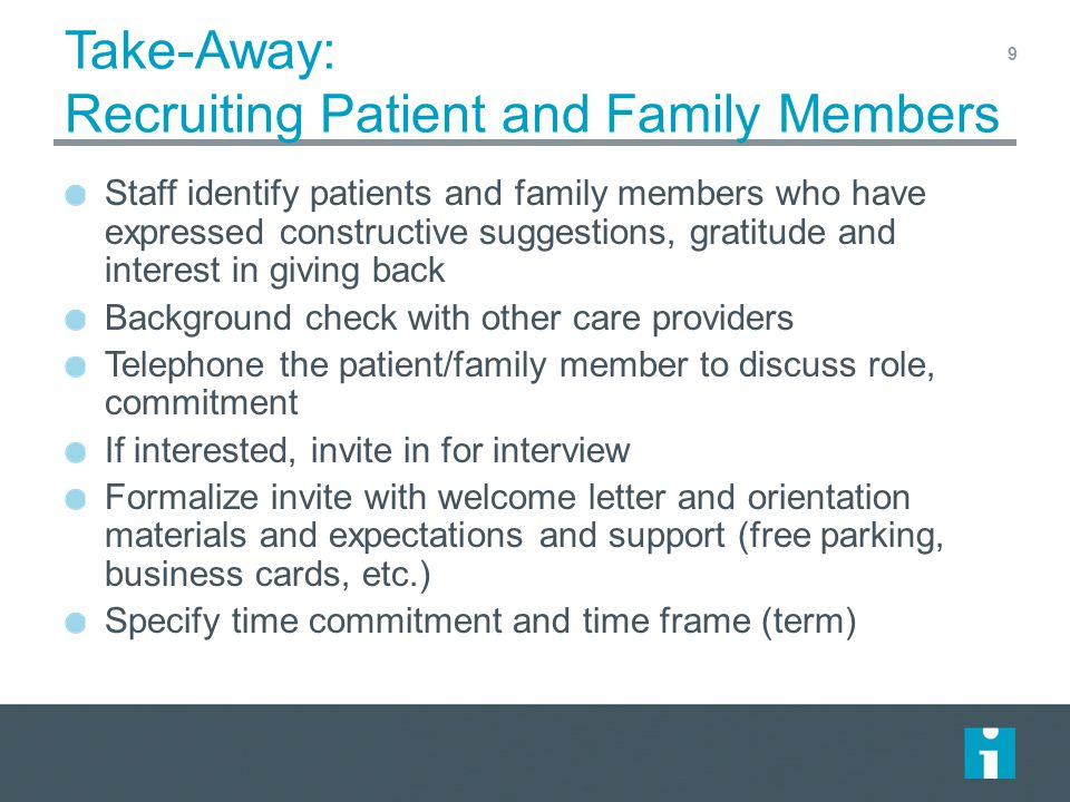 Session 2 Quality Improvement: Partnering With Patients and Families ...