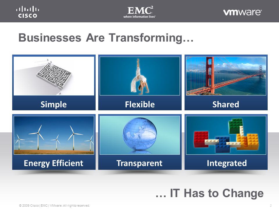 2 © 2009 Cisco | EMC | VMware. All rights reserved.