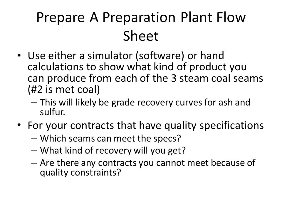 week 5 preparation sheets