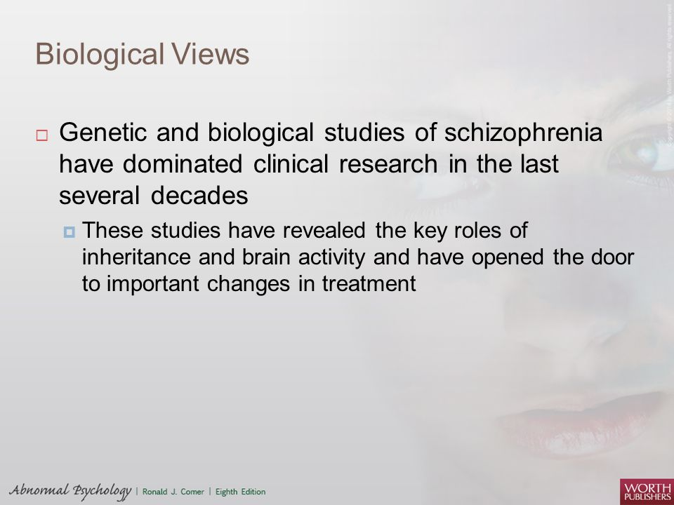 a study on schizophrenia A massive collection of brain tissue reveals the common genetic variants that influence gene expression in the brain 1 applying the findings to schizophrenia suggests that the condition stems from a pile-up of mild variants that affect many genes the new work builds on studies of dna variants that.