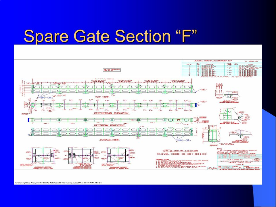 Spare Gate Section F