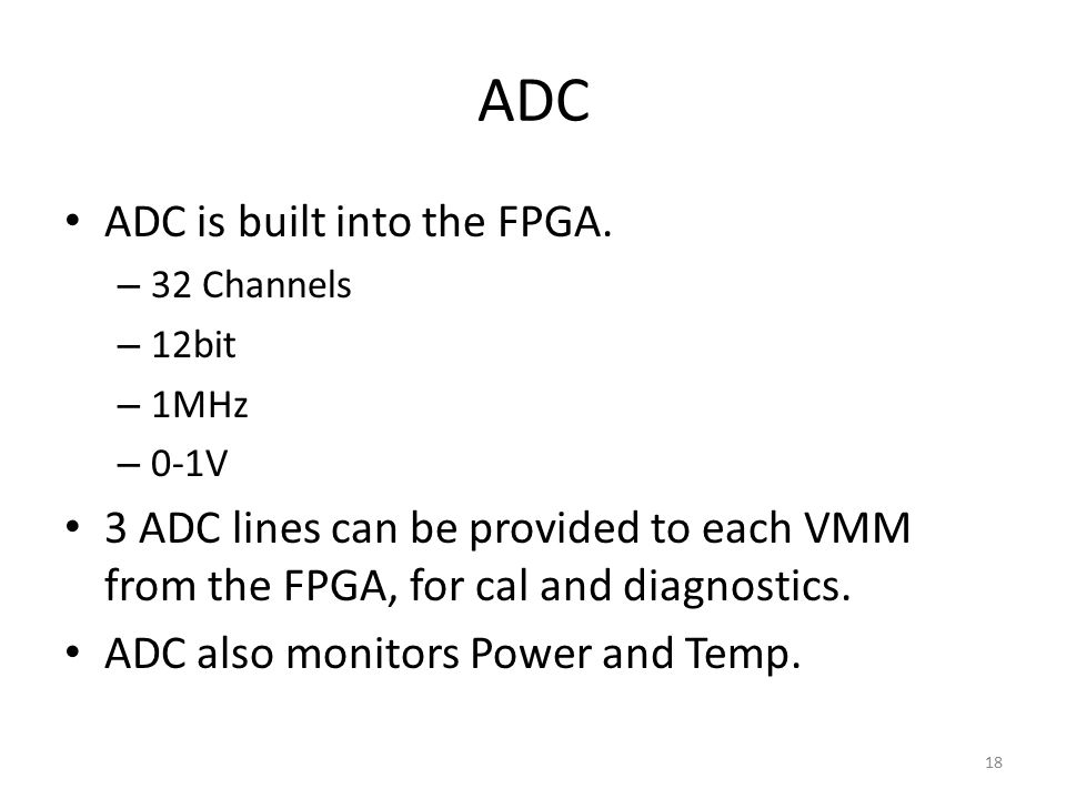 ADC is built into the FPGA.