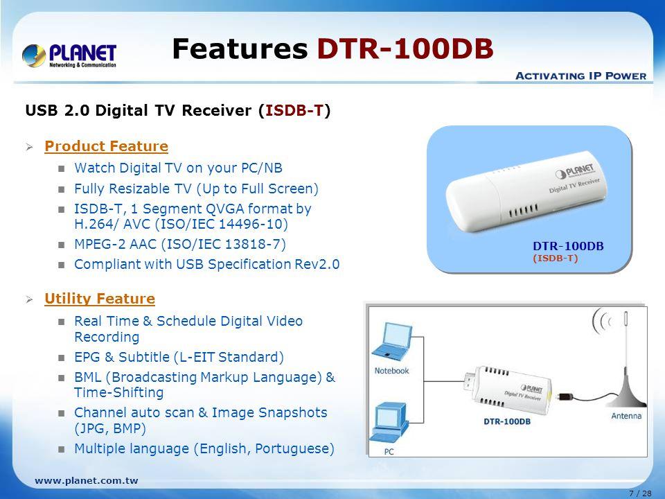 Planet Digital tv Receiver 2.0 Digital tv Receiver