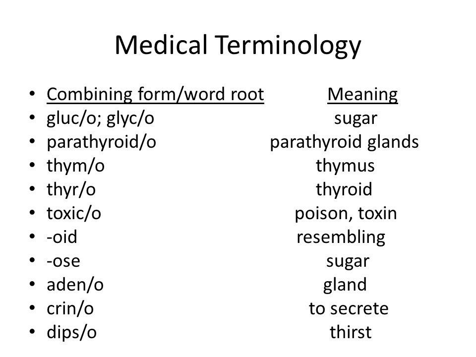 Medical Terminology Endocrine System. Medical Terminology ...