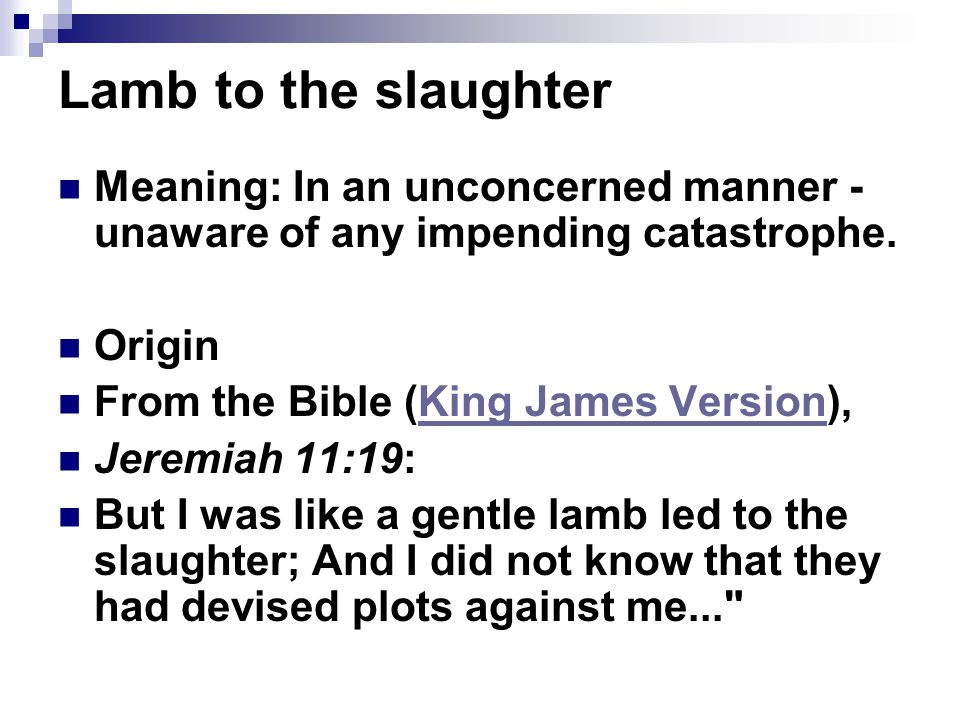 lamb to the slaughter literary essay