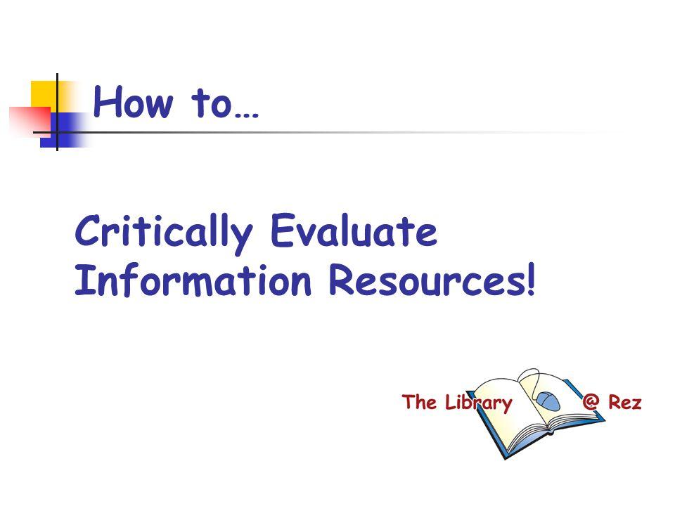 Critically evaluate
