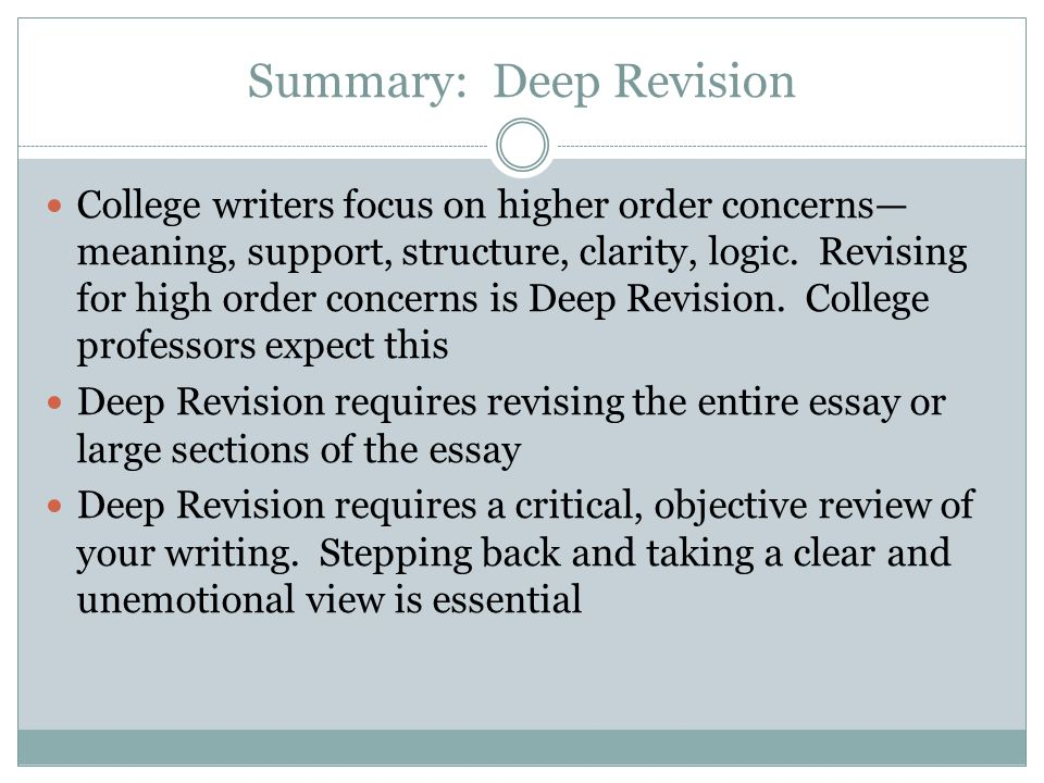 college essay revisions The links below provide concise advice on some fundamental elements of academic writing.