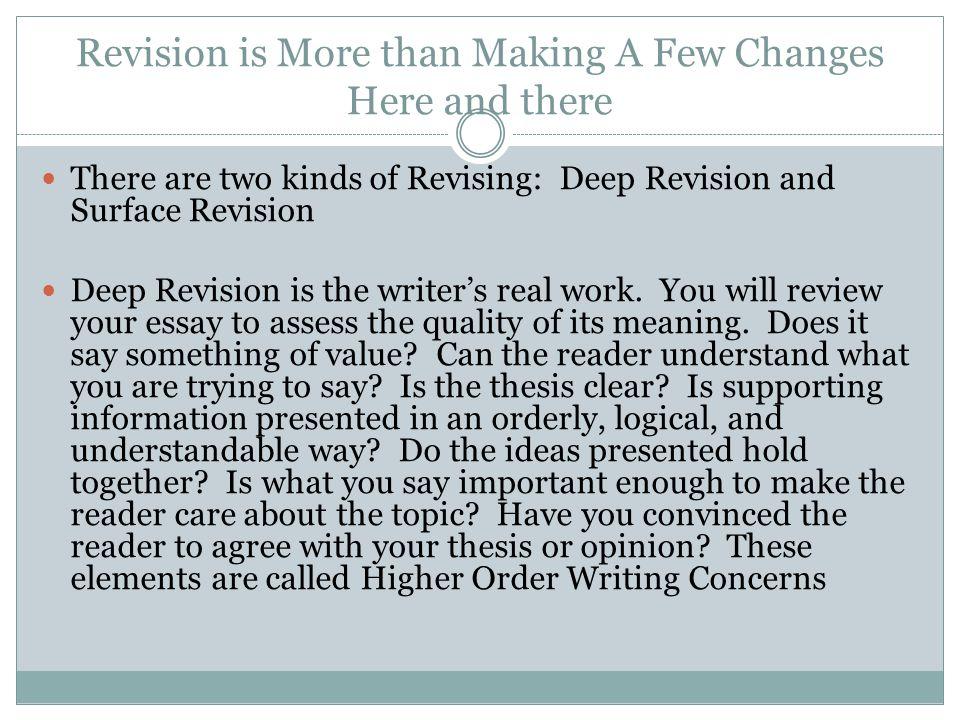 revising an essay