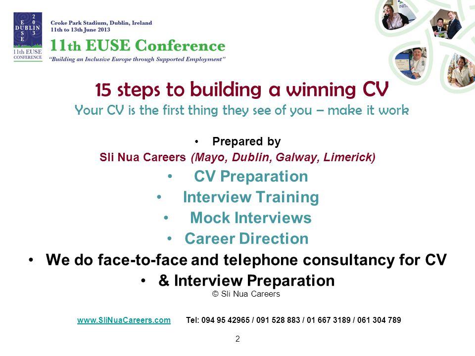 building your cv