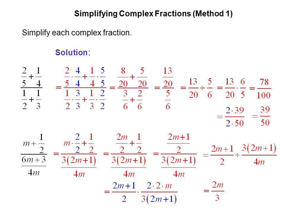 Limits Involving Complex Fractions Worksheet limits involving – Complex Fractions Worksheet