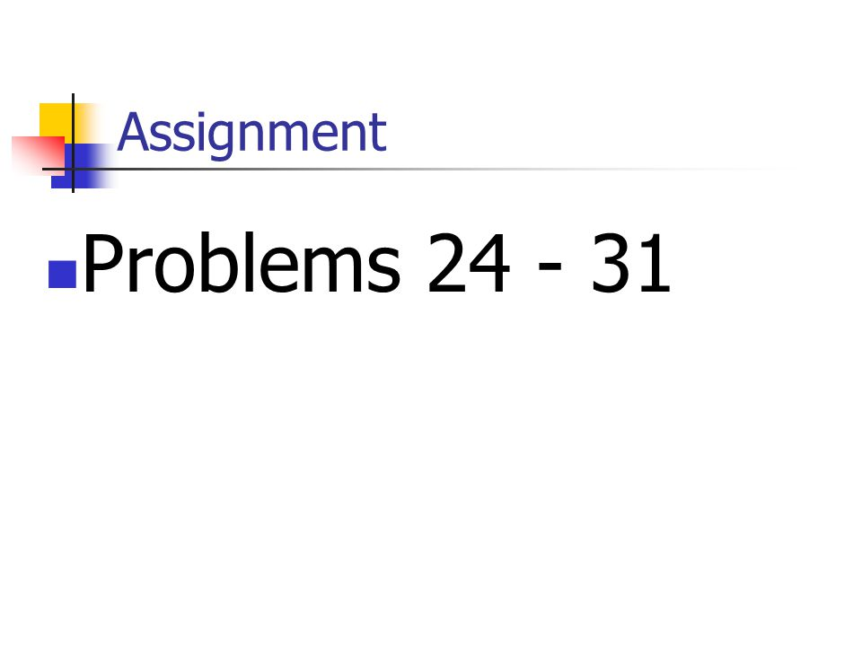 Assignment Problems
