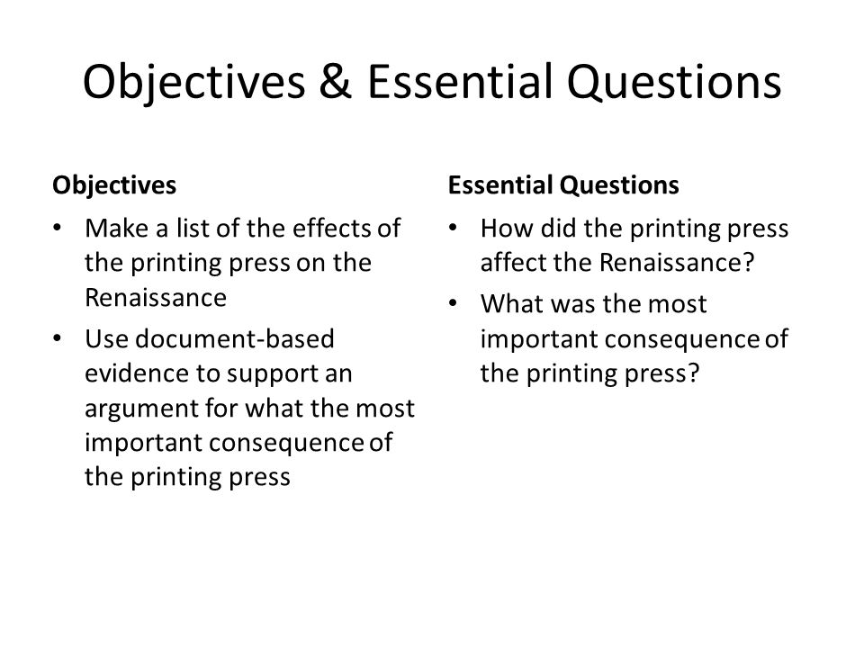 what was the most important consequence of the printing press essay The major consequences of the invention of the printing essays related to historical effects of the printing press eliot was heralded as the most important.