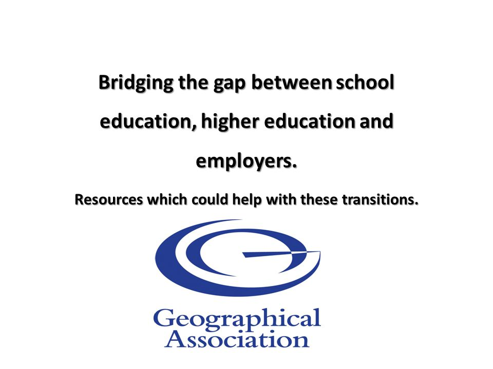 Bridging the gap between school education, higher education and employers.