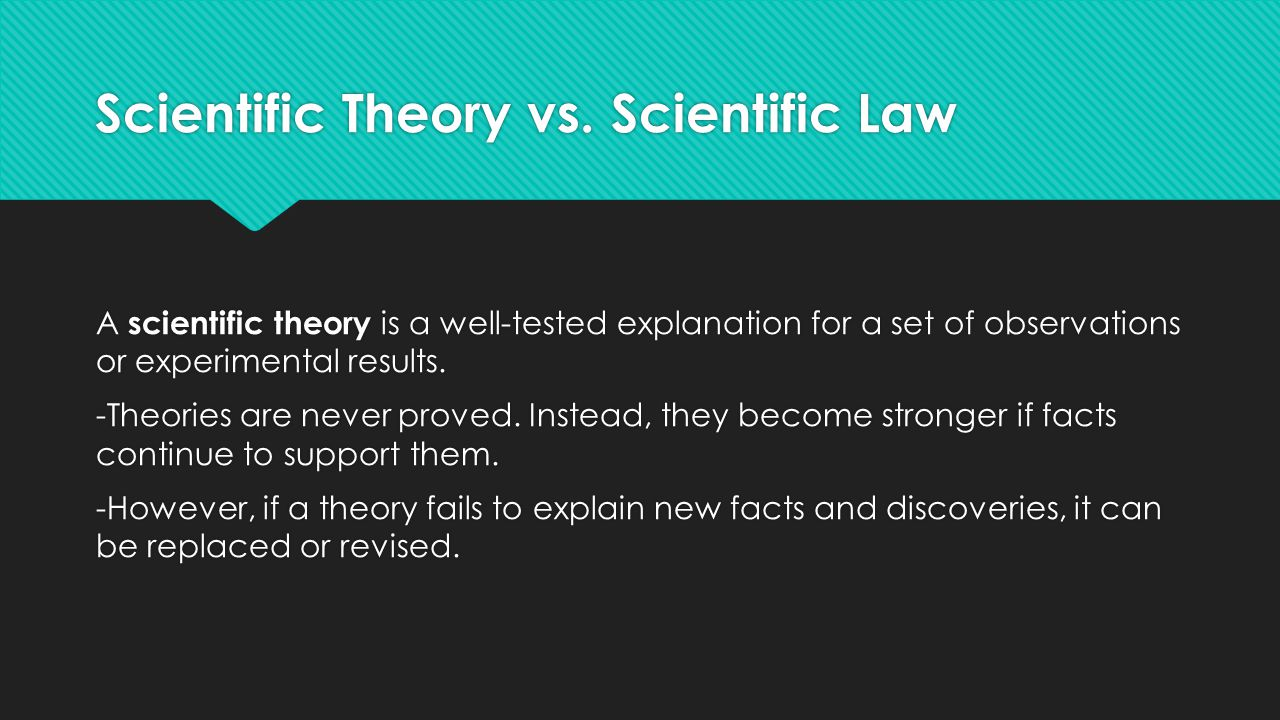 Scientific Theory vs.