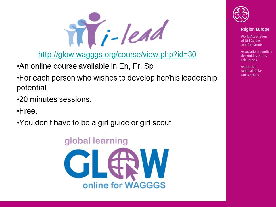 id=30 An online course available in En, Fr, Sp For each person who wishes to develop her/his leadership potential.