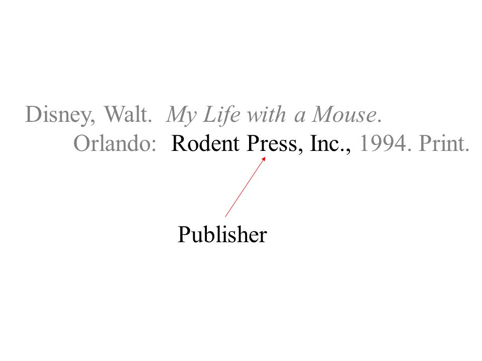 Disney, Walt. My Life with a Mouse. Orlando: Rodent Press, Inc., Print. Publisher