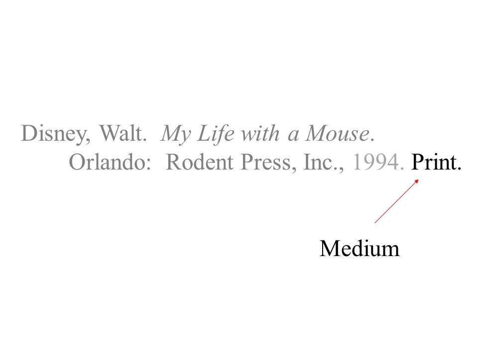 Disney, Walt. My Life with a Mouse. Orlando: Rodent Press, Inc., Print. Medium