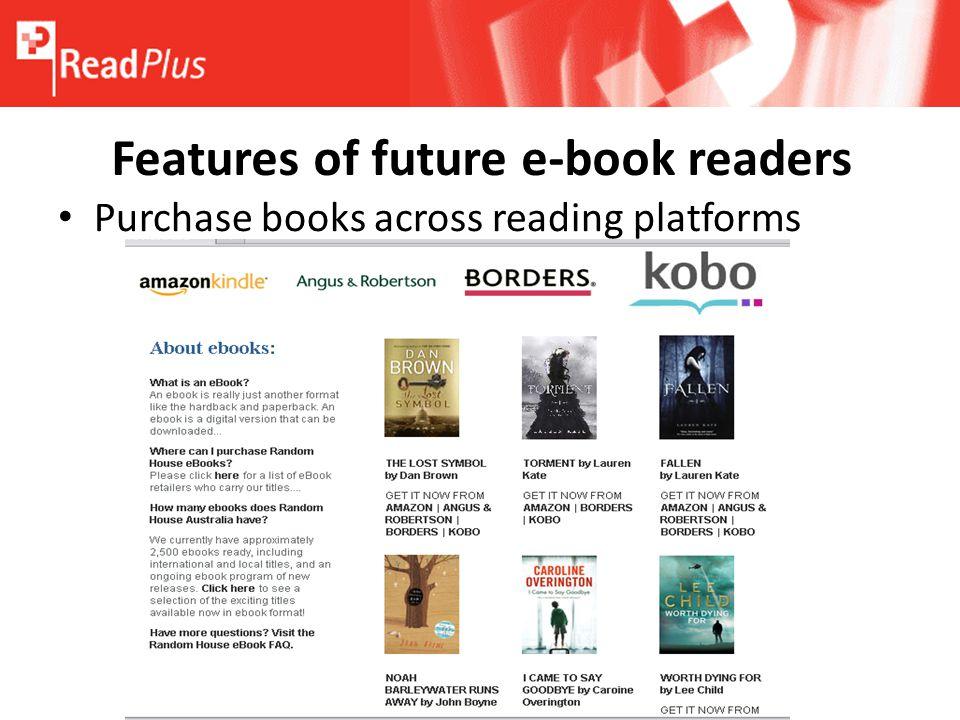 e books and the future of reading