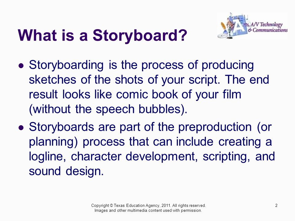 Animation Storyboarding An Animated Short 1Copyright © Texas