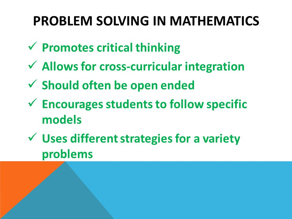 critical thinking in math problem solving