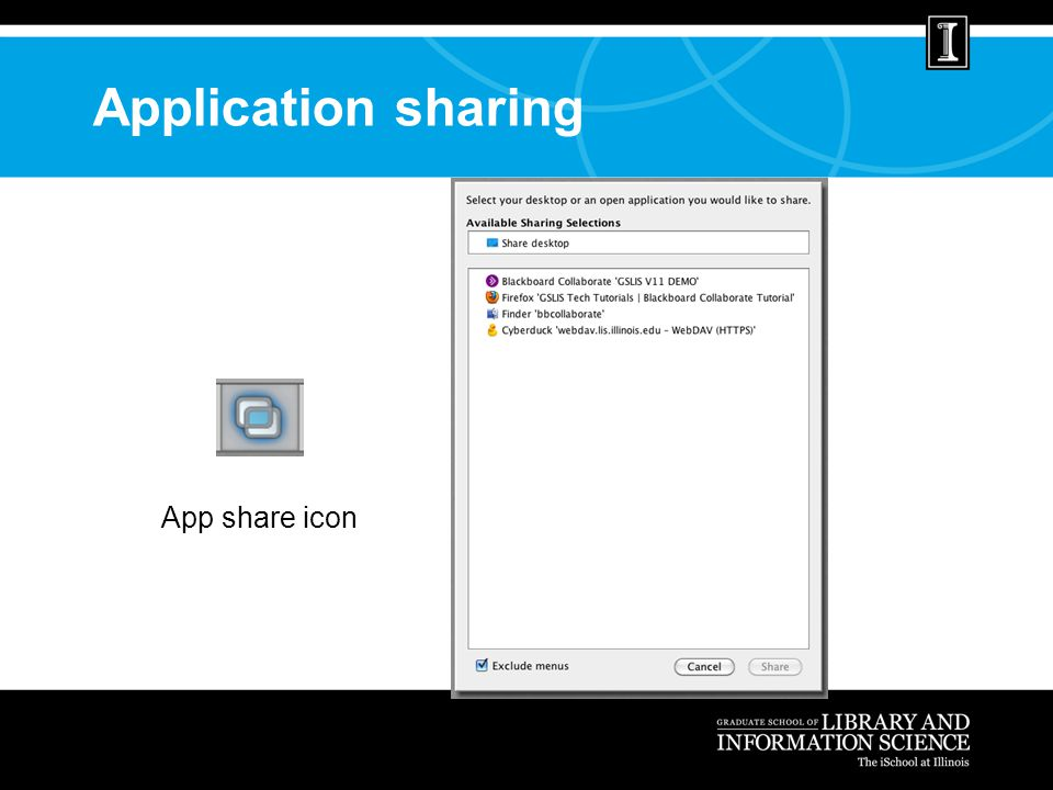 Application sharing App share icon