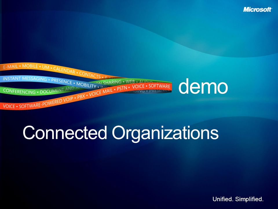 Unified. Simplified. Connected Organizations
