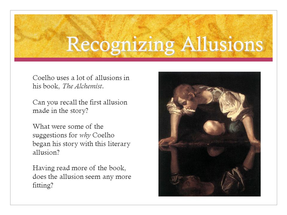 a webquest of textual allusions in paulo coelho s novel ppt  recognizing allusions coelho uses a lot of allusions in his book the alchemist