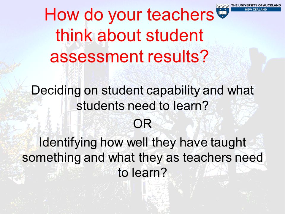 How do your teachers think about student assessment results.