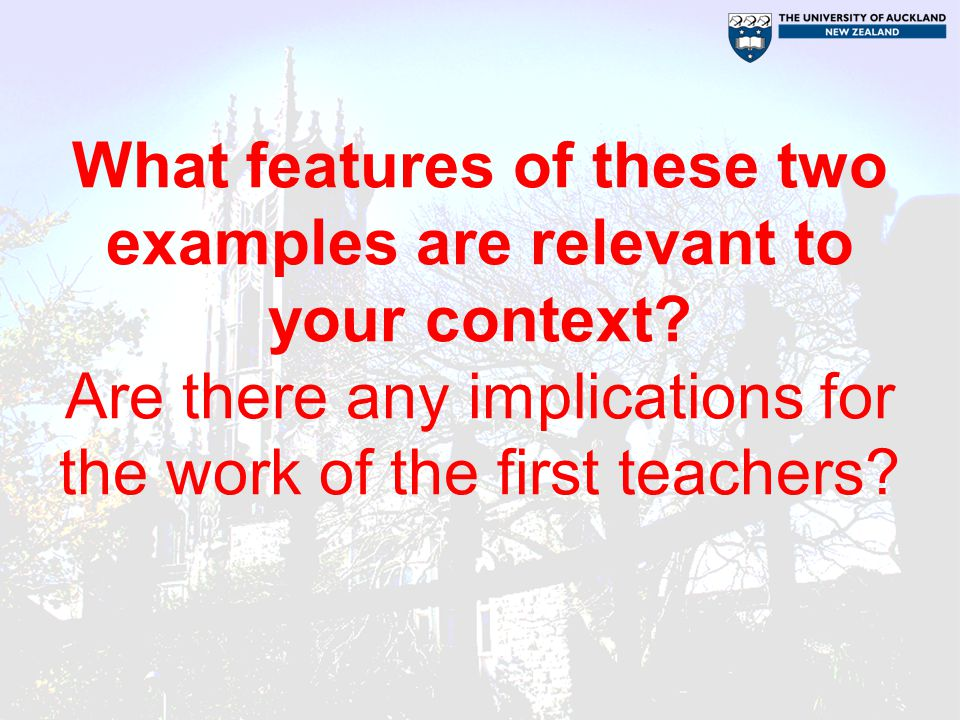 What features of these two examples are relevant to your context.